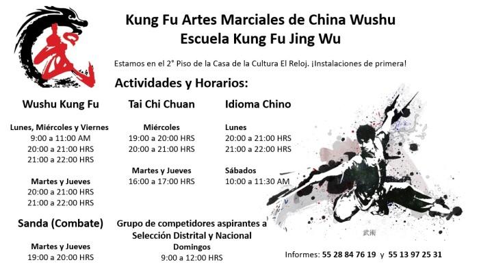 actividades y horarios JingWu